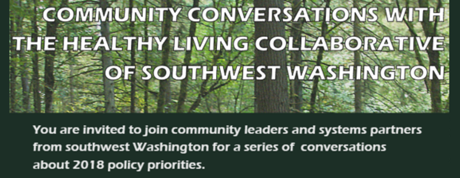 Join us for Policy Focused Community Conversations